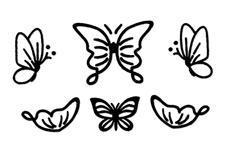Jolifin LAVENI Sticker Butterfly - black