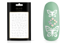 Jolifin LAVENI Sticker Butterfly - white