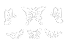 Jolifin LAVENI Sticker Butterfly - white