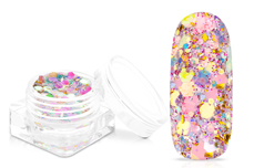 Jolifin Flakes & Glitter - rosy elegance