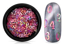 Jolifin Einleger - Zahlen pink Hologramm