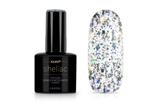 Jolifin LAVENI Shellac - Top-Coat ohne Schwitzschicht Flakes 12ml