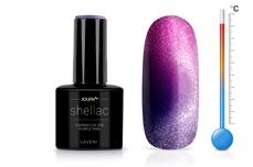Jolifin LAVENI Shellac - Thermo Cat-Eye purple-pink 12ml