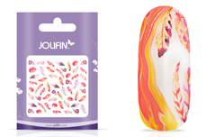 Jolifin Nailart Tattoo Aquarell Federn coral