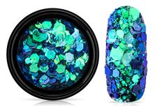 Jolifin LAVENI Chameleon Glittermix - ocean blue