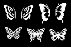 Jolifin LAVENI XL Sticker - Butterfly white