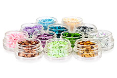 Nailart Set Glitter Drops