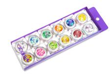 Nailart Set Glitter Pailletten Groß