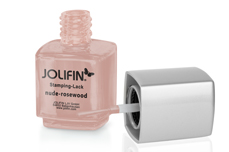 Jolifin Stamping-Lack - nude-rosewood 12ml
