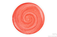 Jolifin LAVENI Shellac - neon-coral pearl 12ml