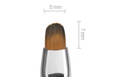 Jolifin Aqua-Glitter Gel-Pinsel magenta - oval Gr. 4