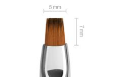 Jolifin Aqua-Glitter Gel-Pinsel türkis - gerade Gr. 4
