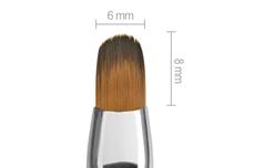 Jolifin Aqua-Glitter Gel-Pinsel royal - oval Gr. 6