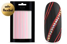 Jolifin LAVENI XL Sticker - Stripes red