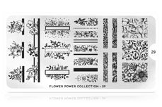 MoYou-London Schablone Flower Power Collection 29