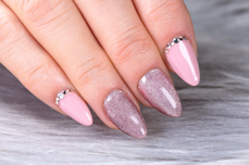 Jolifin LAVENI Shellac - Diamond Cat-Eye orchid 12ml