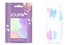 Jolifin Aurora Sticker - Leaf clear diamond