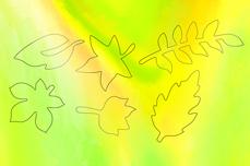 Jolifin Aurora Sticker - Leaf neon green