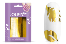Jolifin Aurora Sticker - Leaf gold chrome
