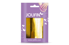 Jolifin Metallic Sticker - Leaf gold chrome