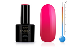 Jolifin LAVENI Shellac - Thermo pink-cherry 12ml