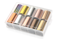 Jolifin Transfer-Nagelfolien Box - Chrome elegant Mix