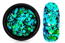 Jolifin LAVENI Chameleon Glittermix - aqua türkis