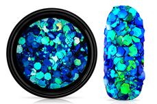 Jolifin LAVENI Chameleon Glittermix - mermaid blue