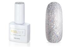 Jolifin LAVENI Shellac PeelOff - silver Glitter 12ml