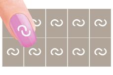 Nail-Art Schablone Nr. 4 Kettenglied