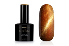 Jolifin LAVENI Shellac - Cat-Eye 9D gold & amber 12ml