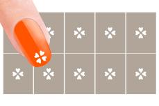 Nail-Art Schablone Nr. 8 Kleeblatt