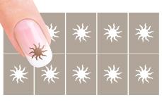 Nail-Art Schablone Nr.10 Sonne