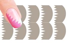 Nail-Art Schablone Nr.17 Zacken