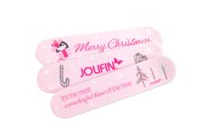 Jolifin Feilenset - Christmas pink 100/180