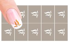 Nail-Art Schablone Nr.24 Feuer