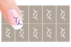 Nail-Art Schablone Nr.27 Y