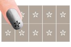 Nail-Art Schablone Nr.31 Hologramm Stern