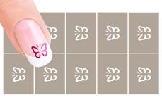 Nail-Art Schablone Nr. 34 Hologramm Schmetterling