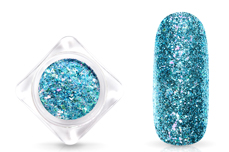 Jolifin Glittermix Flakes - türkis-rosy