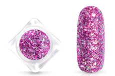 Jolifin Glittermix Flakes - berry-rosy