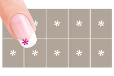 Nail-Art Schablone Nr.40 kleine Blume