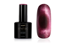 Jolifin LAVENI Shellac - Cat-Eye 9D pink-berry 12ml