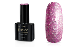 Jolifin LAVENI Shellac - rose Glitter 12ml