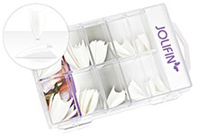 Jolifin 100er Tipbox Stiletto french-white