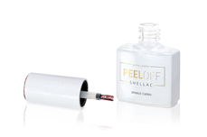 Jolifin LAVENI Shellac PeelOff - sparkle cherry 12ml