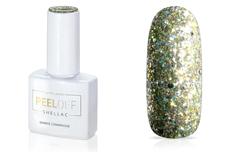 Jolifin LAVENI Shellac PeelOff - sparkle champagne 12ml