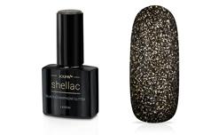 Jolifin LAVENI Shellac - black-champagne Glitter 12ml