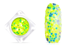 Jolifin Pailletten Mix - neon-yellow