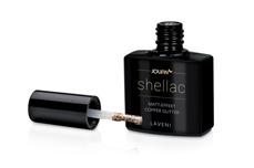 Jolifin LAVENI Shellac - Matt-Effekt copper Glitter 12ml